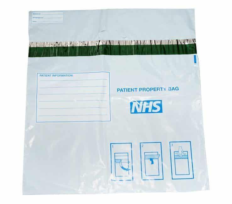 NHS Patient Property Bags