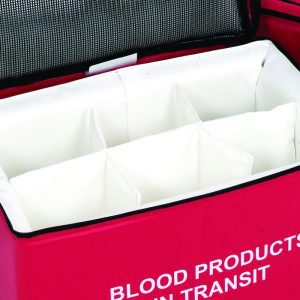 Blood bags for transit