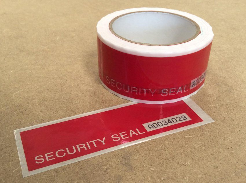 Security Tape Tear Off Strips