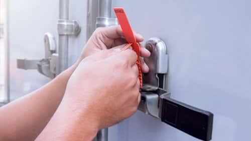 tamper evident security seals for transport